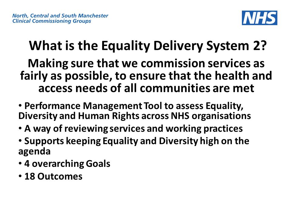 What is the Equality Delivery System 2