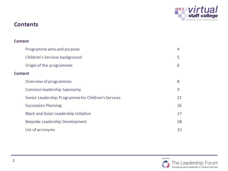 Contents Context Programme aims and purpose 4