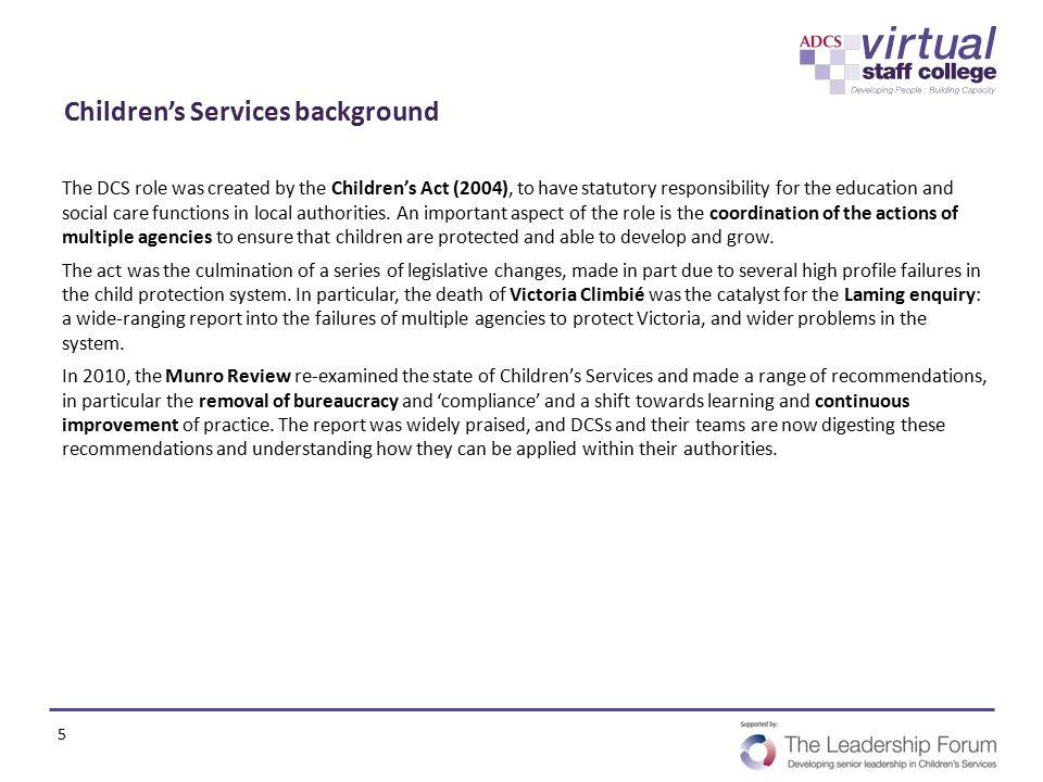 Children's Services background
