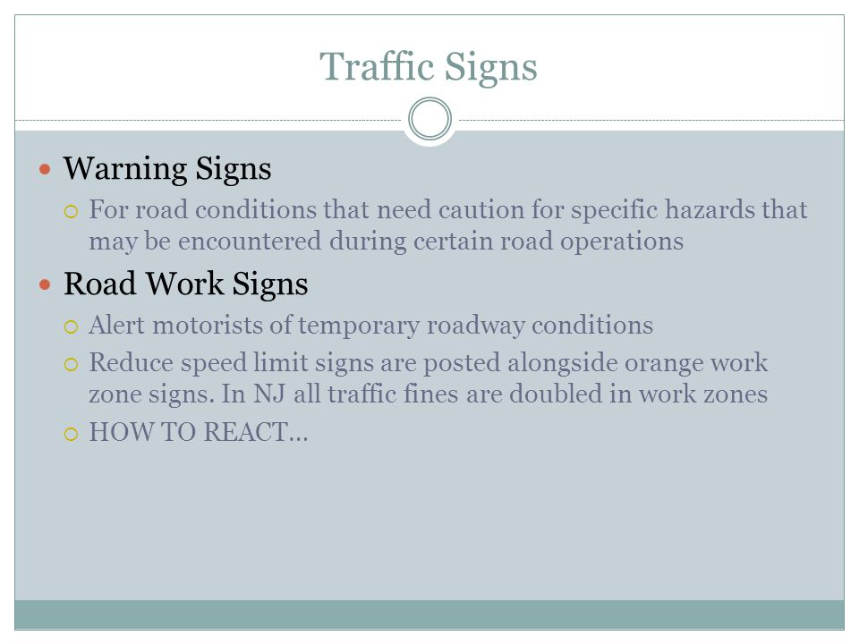 Traffic Signs Warning Signs Road Work Signs