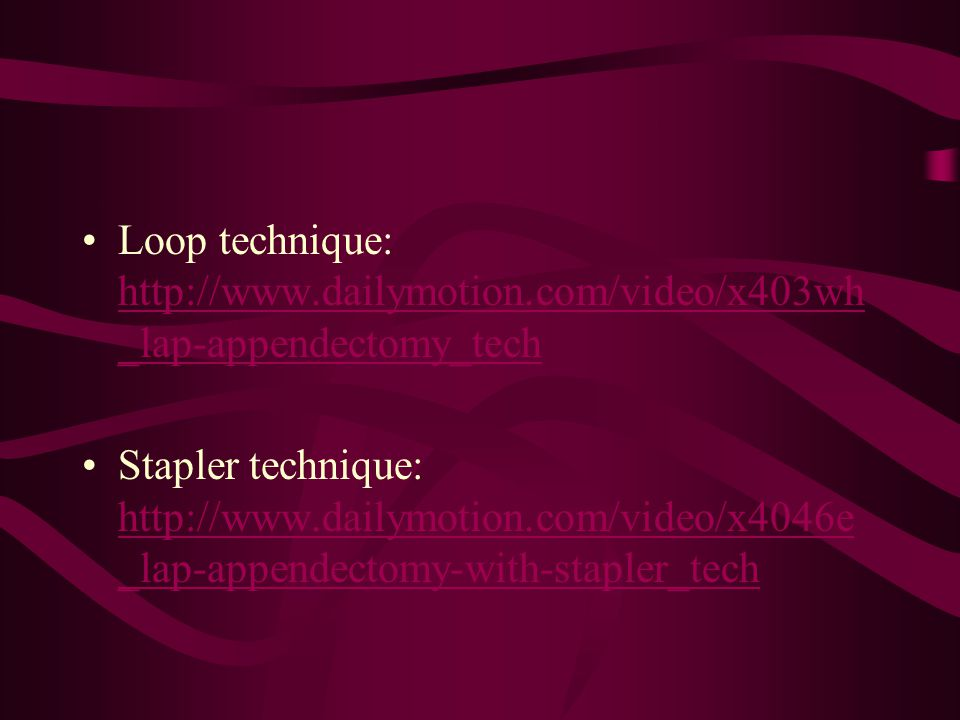 Loop technique: http://www. dailymotion