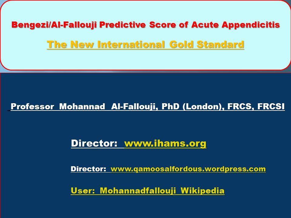 Professor Mohannad Al-Fallouji, PhD (London), FRCS, FRCSI