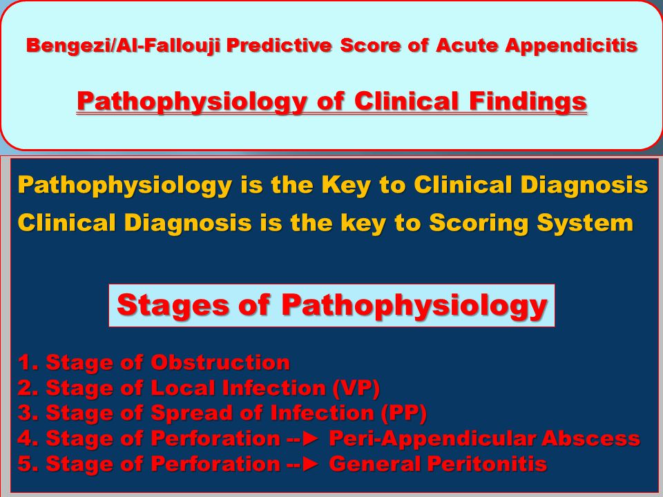 Stages of Pathophysiology