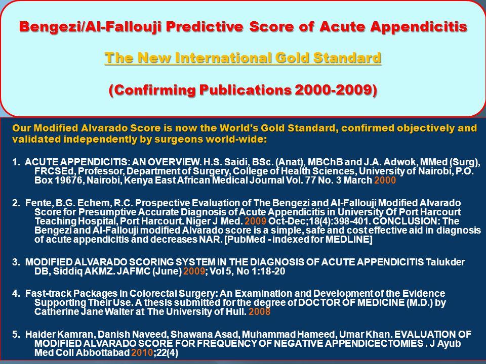 (Confirming Publications 2000-2009)