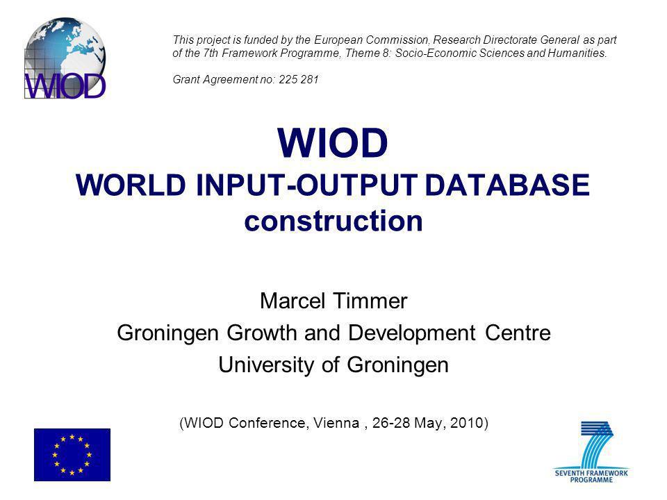 WIOD WORLD INPUT-OUTPUT DATABASE construction