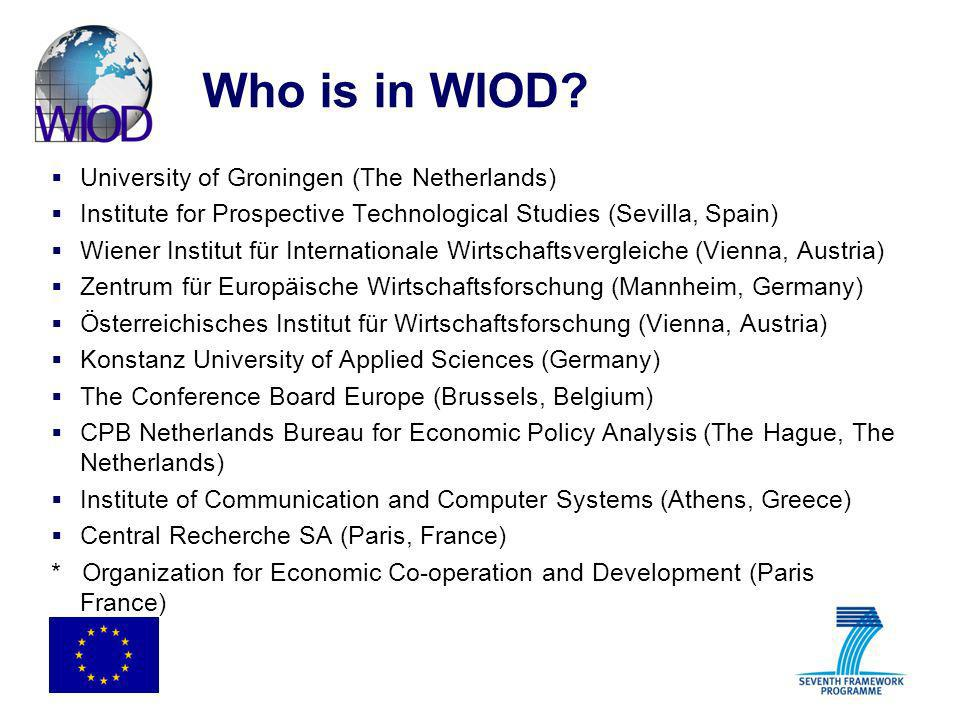 Who is in WIOD University of Groningen (The Netherlands)