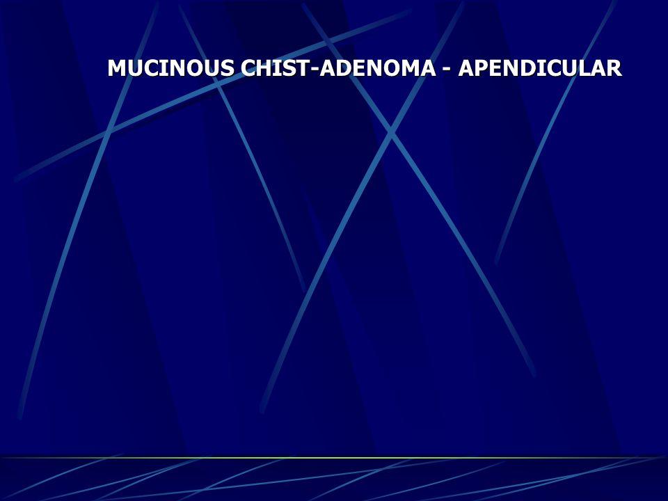 MUCINOUS CHIST-ADENOMA - APENDICULAR