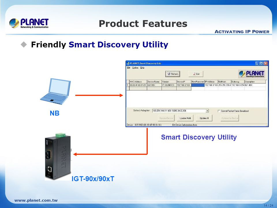 Product Features Friendly Smart Discovery Utility NB