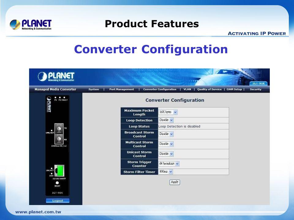 Converter Configuration
