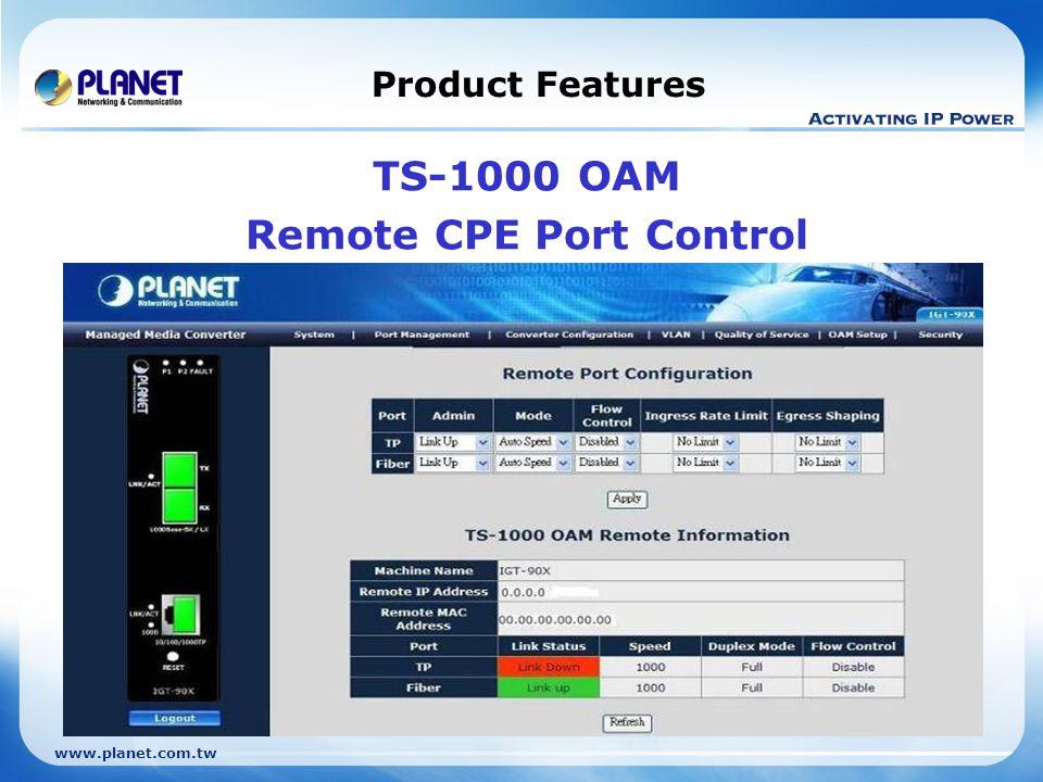 Remote CPE Port Control