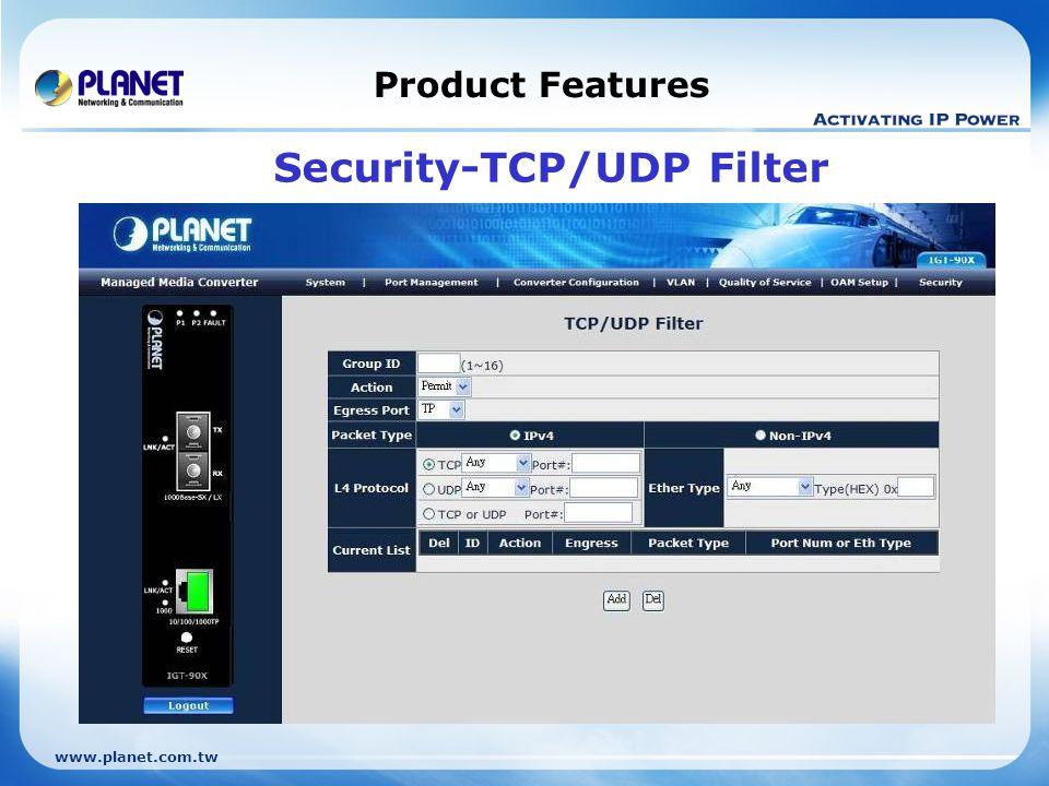 Security-TCP/UDP Filter