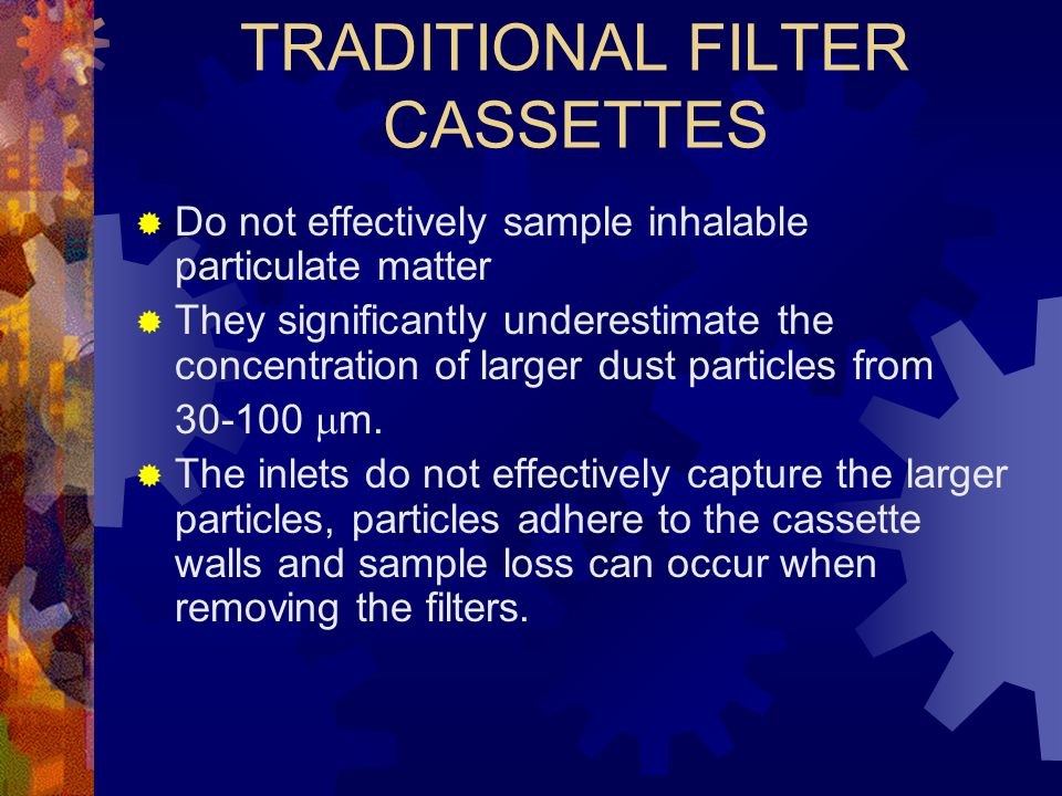 TRADITIONAL FILTER CASSETTES