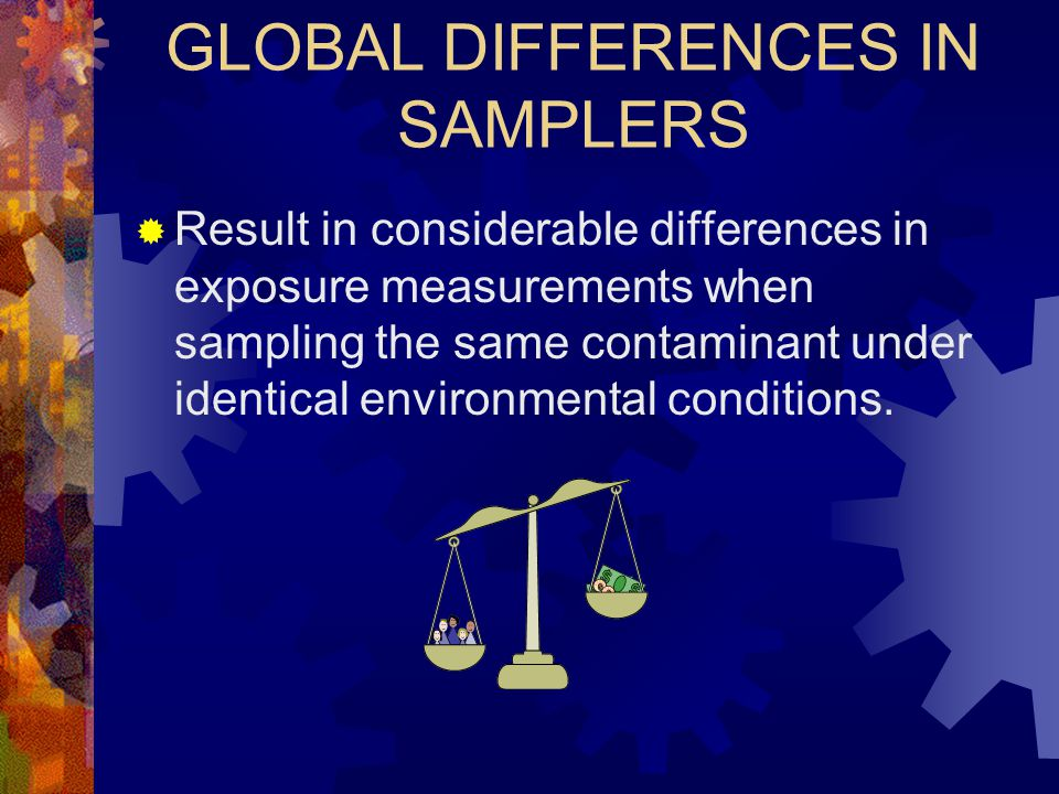 GLOBAL DIFFERENCES IN SAMPLERS
