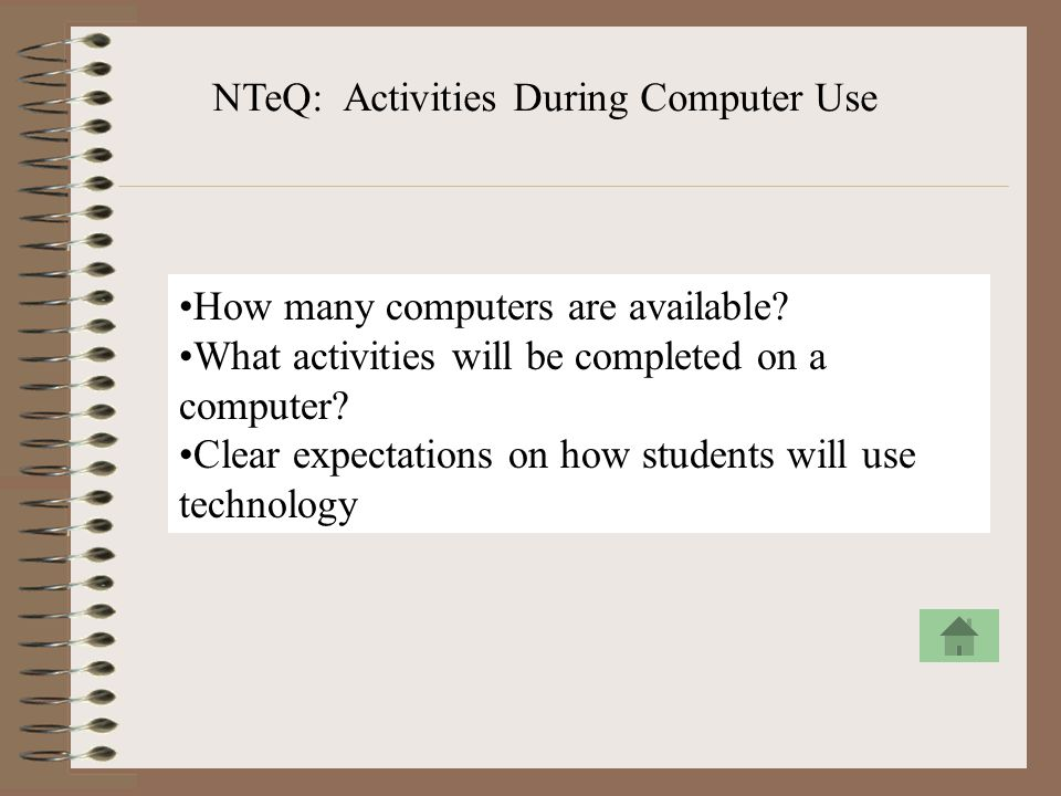 NTeQ: Activities During Computer Use