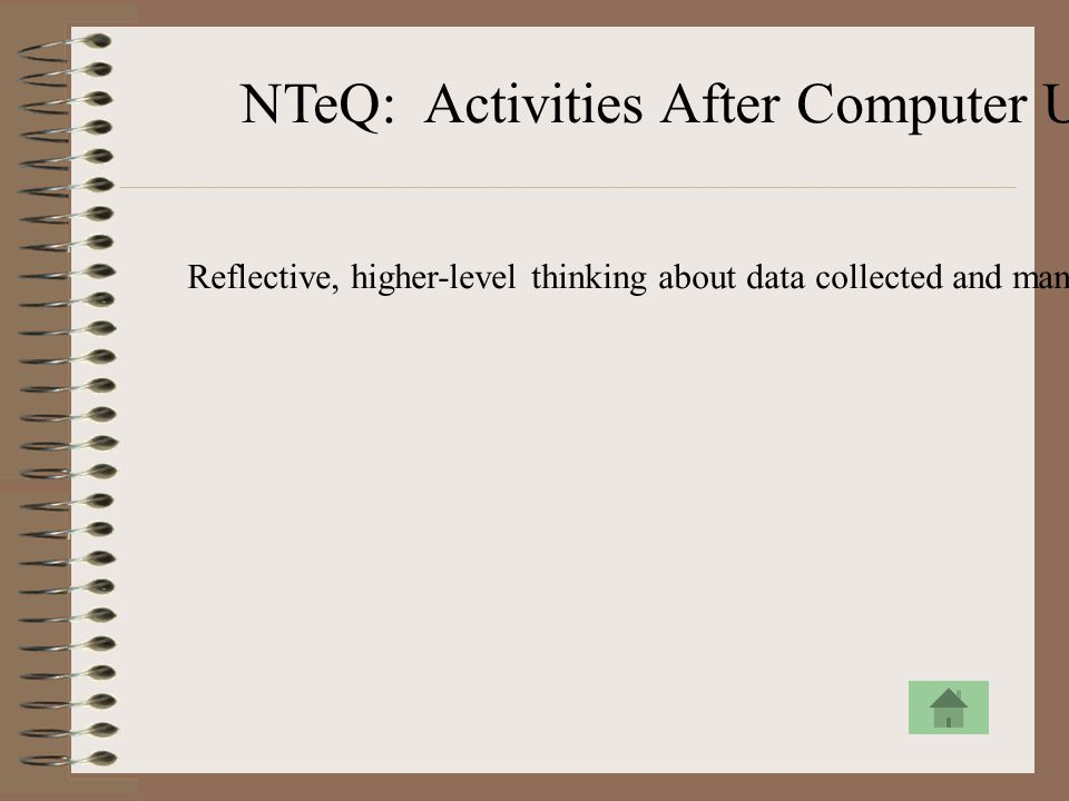 NTeQ: Activities After Computer Use