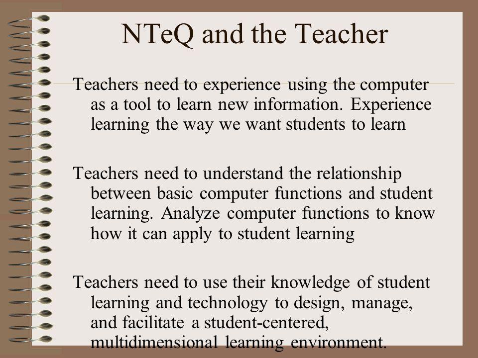 NTeQ and the Teacher
