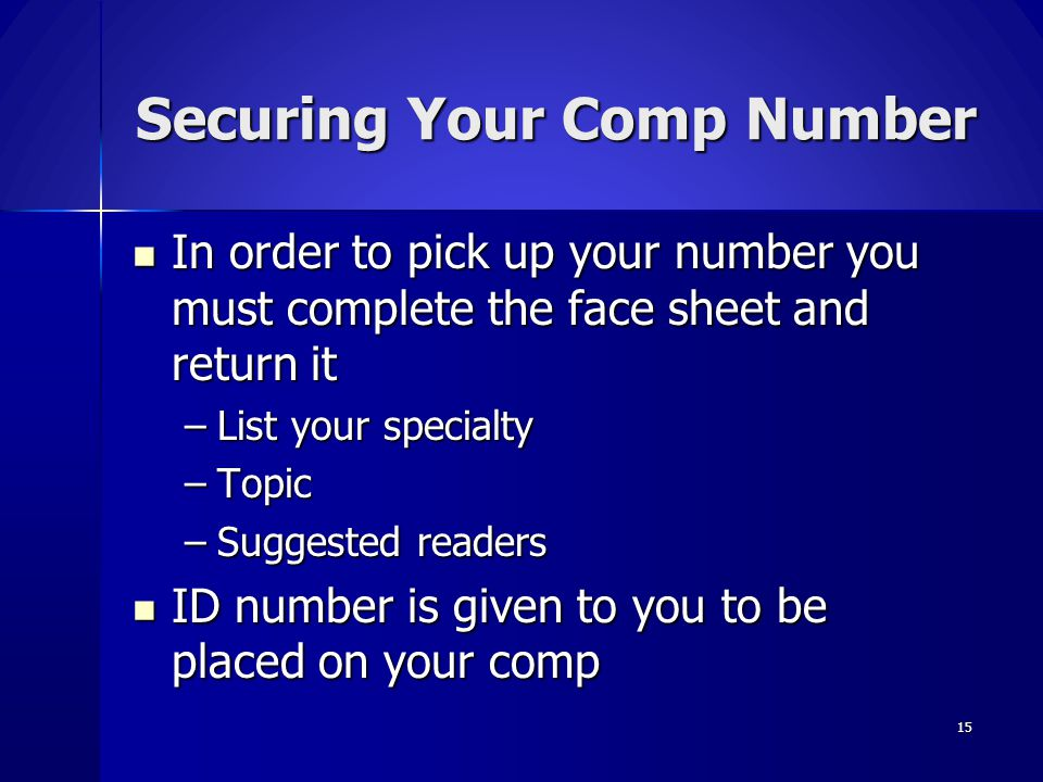 Securing Your Comp Number
