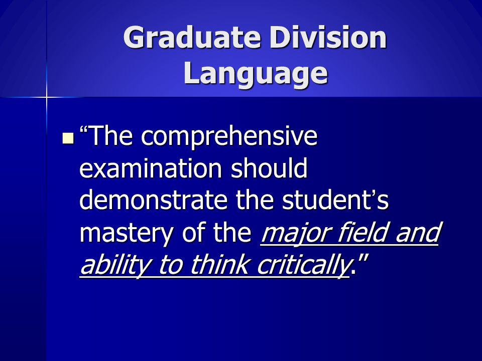 Graduate Division Language