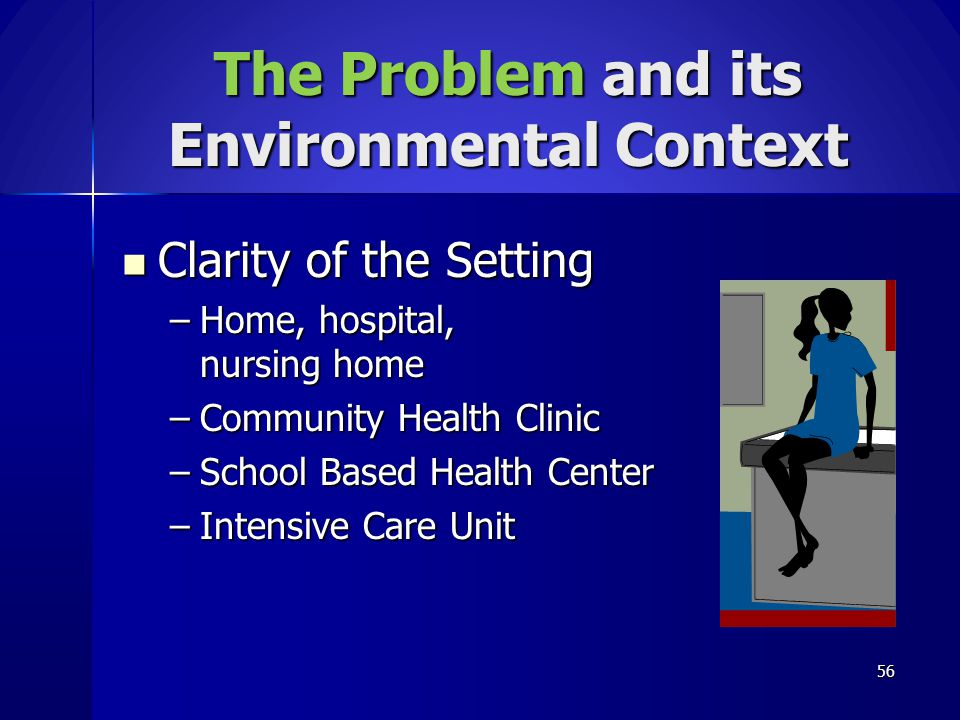 The Problem and its Environmental Context