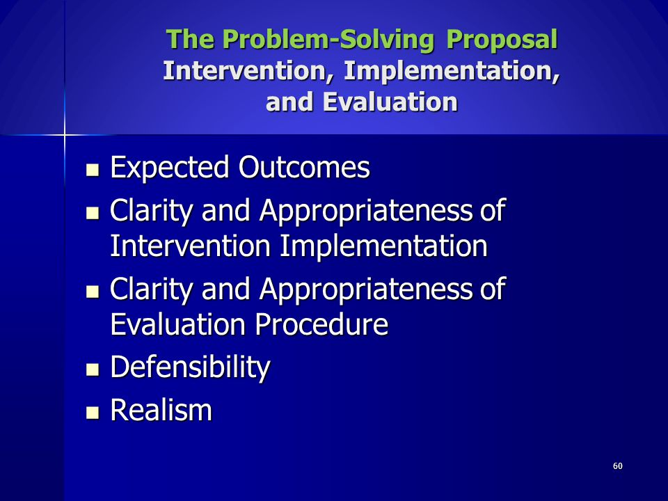 Clarity and Appropriateness of Intervention Implementation
