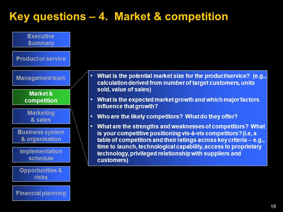 Key questions – 5. Marketing & sales
