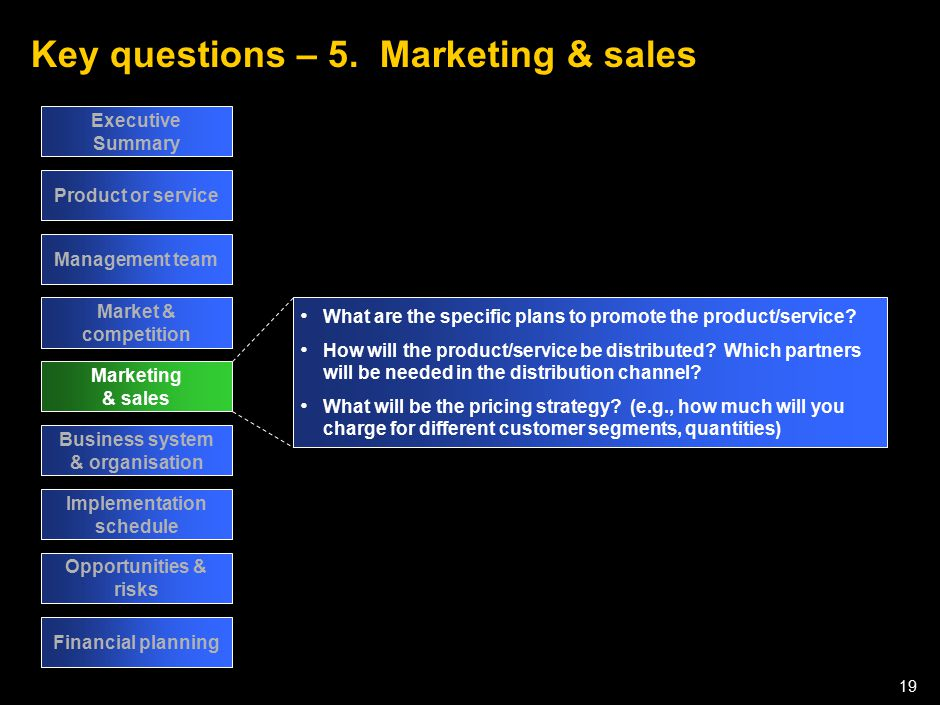 Key questions – 6. Business systems & organisation