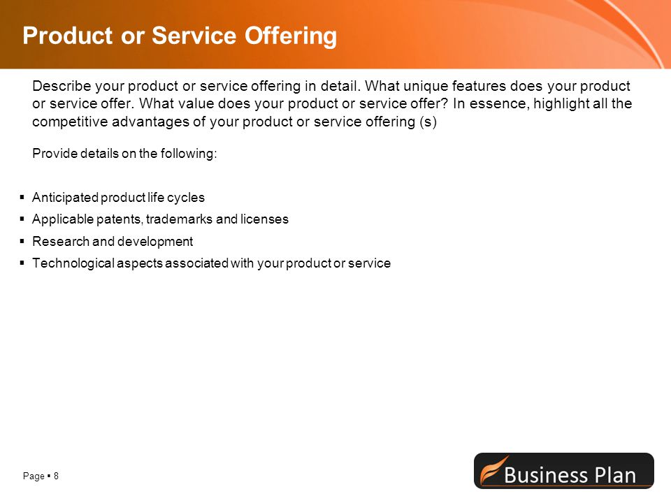 Product or Service Offering