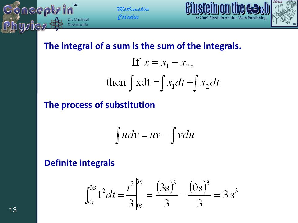 The integral of a sum is the sum of the integrals.