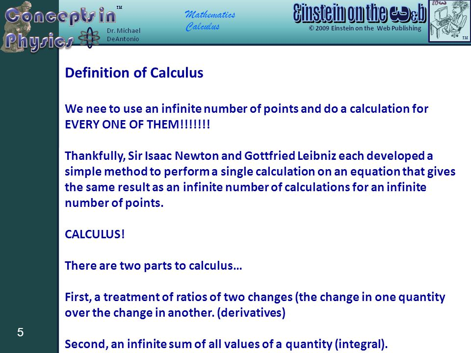 Definition of Calculus