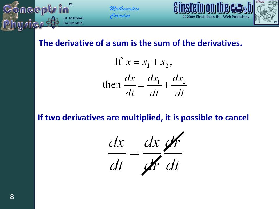 The derivative of a sum is the sum of the derivatives.