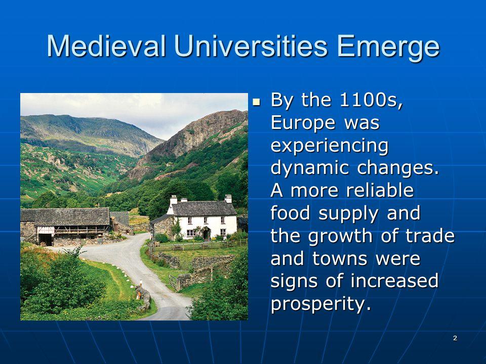 Medieval Universities Emerge