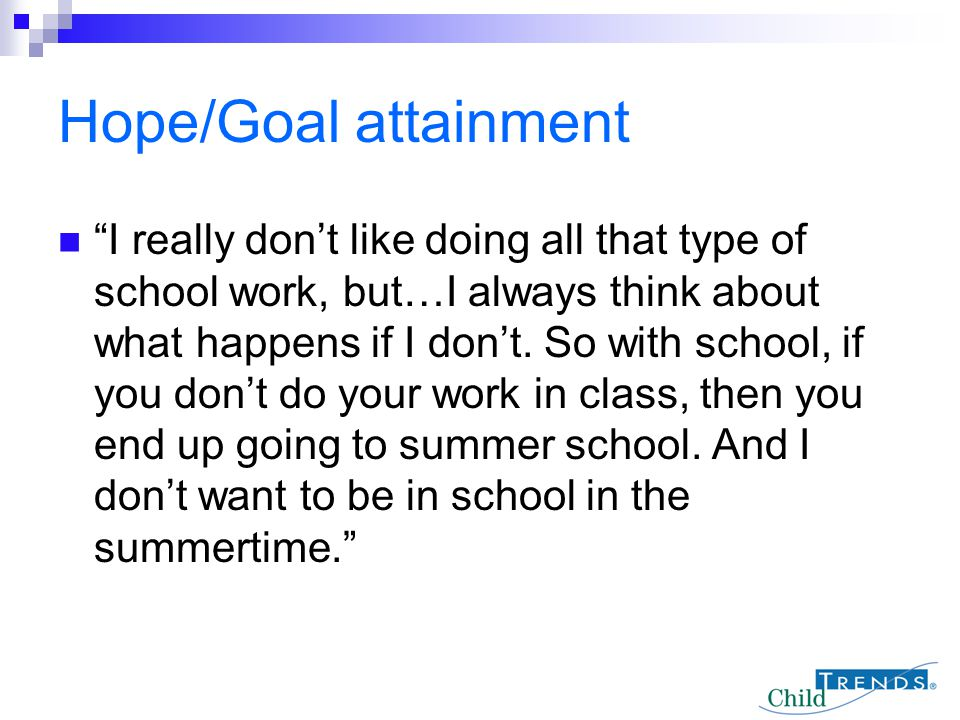 Hope/Goal attainment