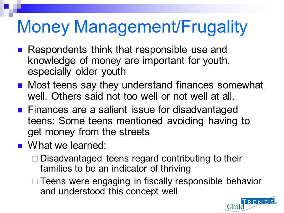 Money Management/Frugality