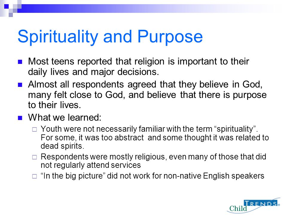 Spirituality and Purpose