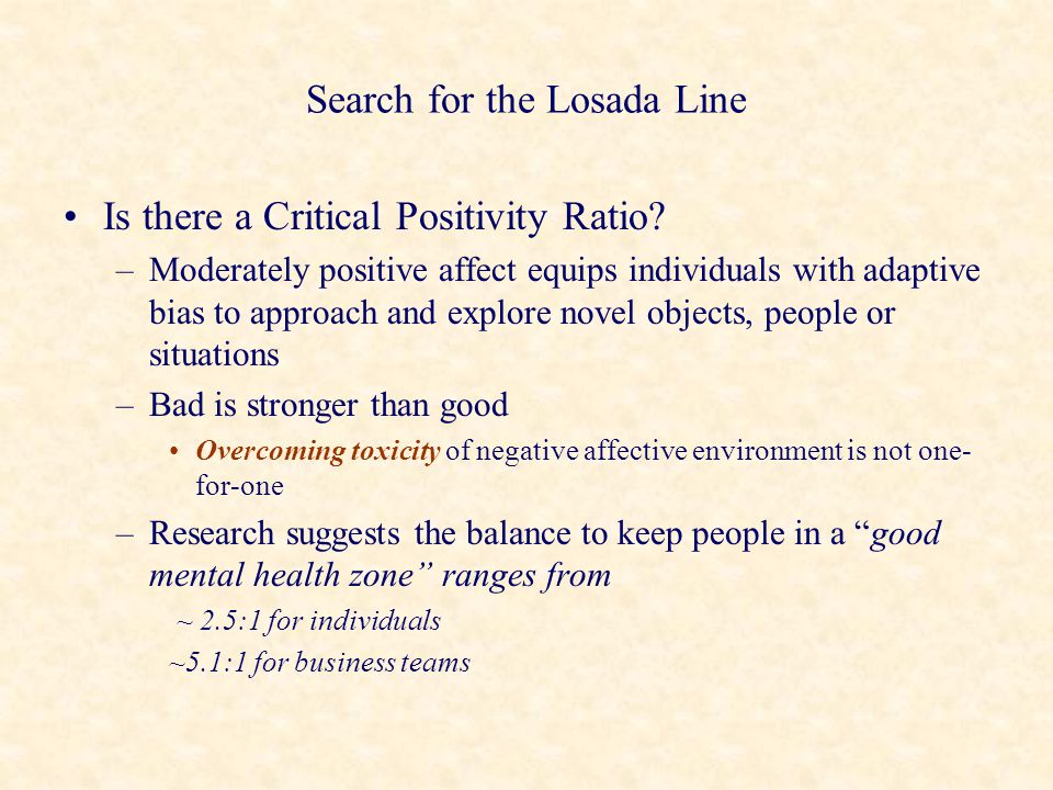 Search for the Losada Line