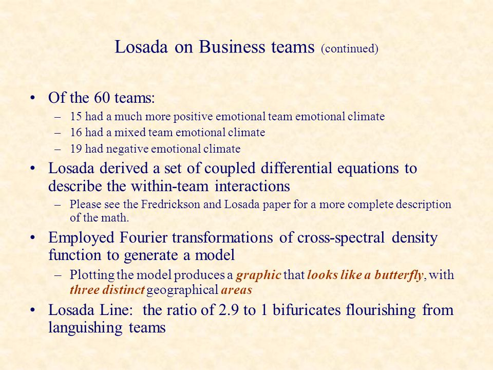 Losada on Business teams (continued)