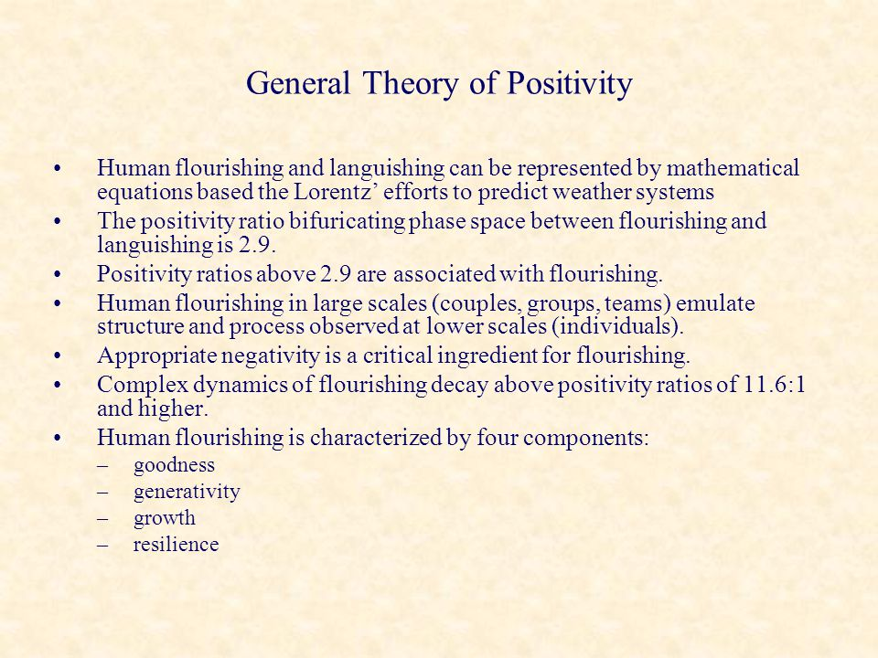 General Theory of Positivity