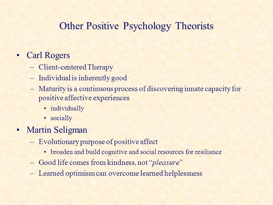 Other Positive Psychology Theorists