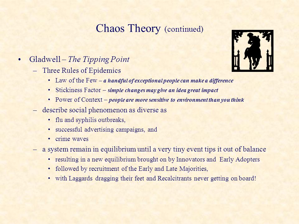 Chaos Theory (continued)