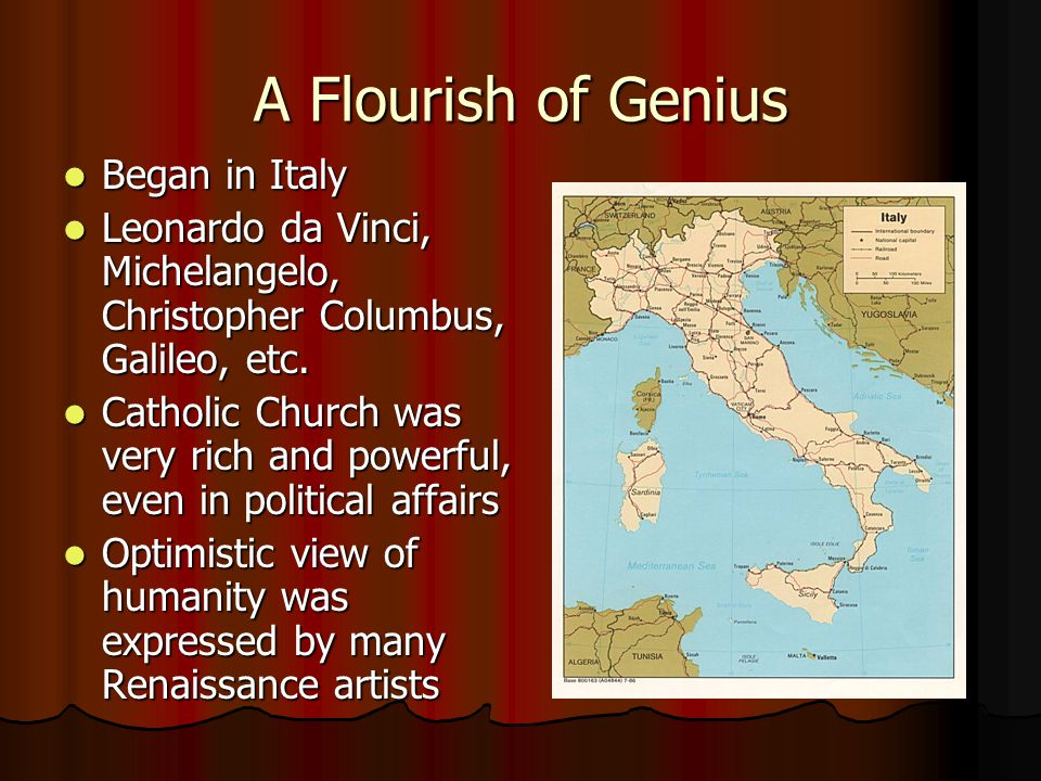 A Flourish of Genius Began in Italy