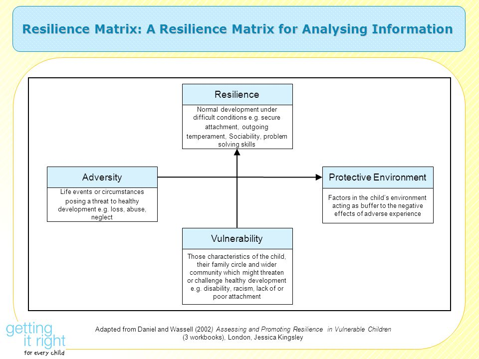 Resilience Matrix: A Resilience Matrix for Analysing Information