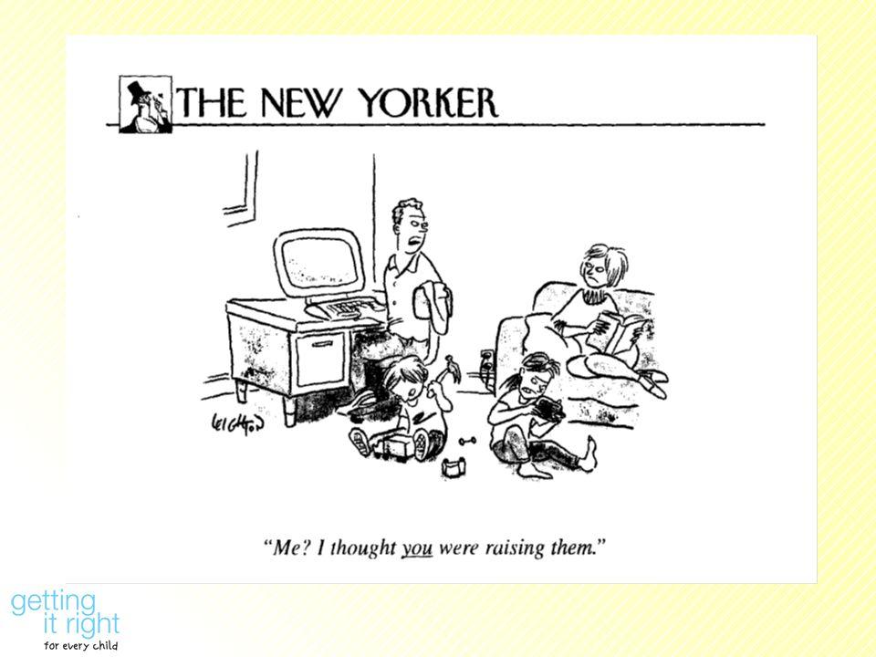 Slide 3: Cartoon Slide - I thought you were bringing up the children
