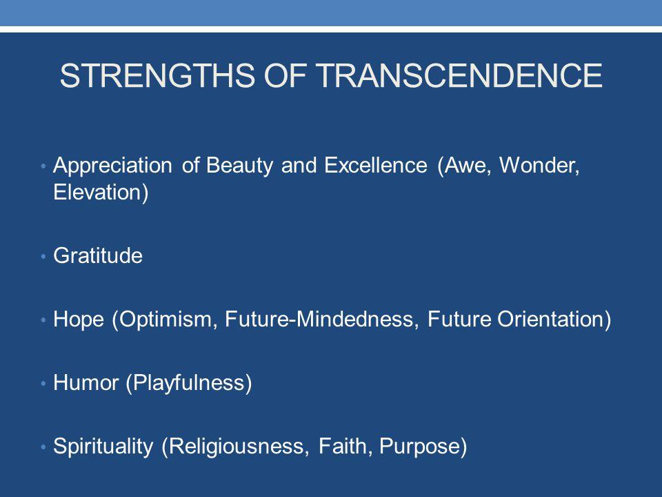 STRENGTHS OF TRANSCENDENCE