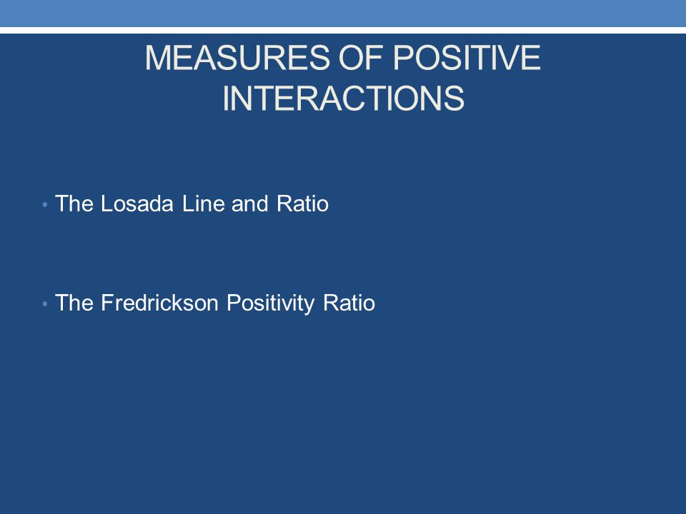 MEASURES OF POSITIVE INTERACTIONS