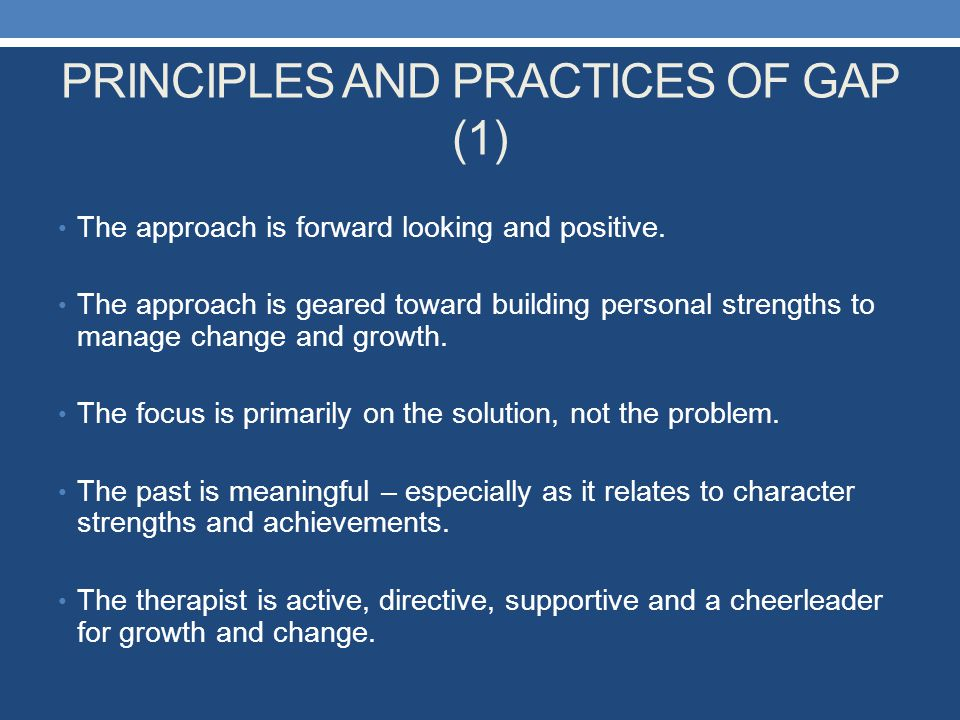 PRINCIPLES AND PRACTICES OF GAP (1)