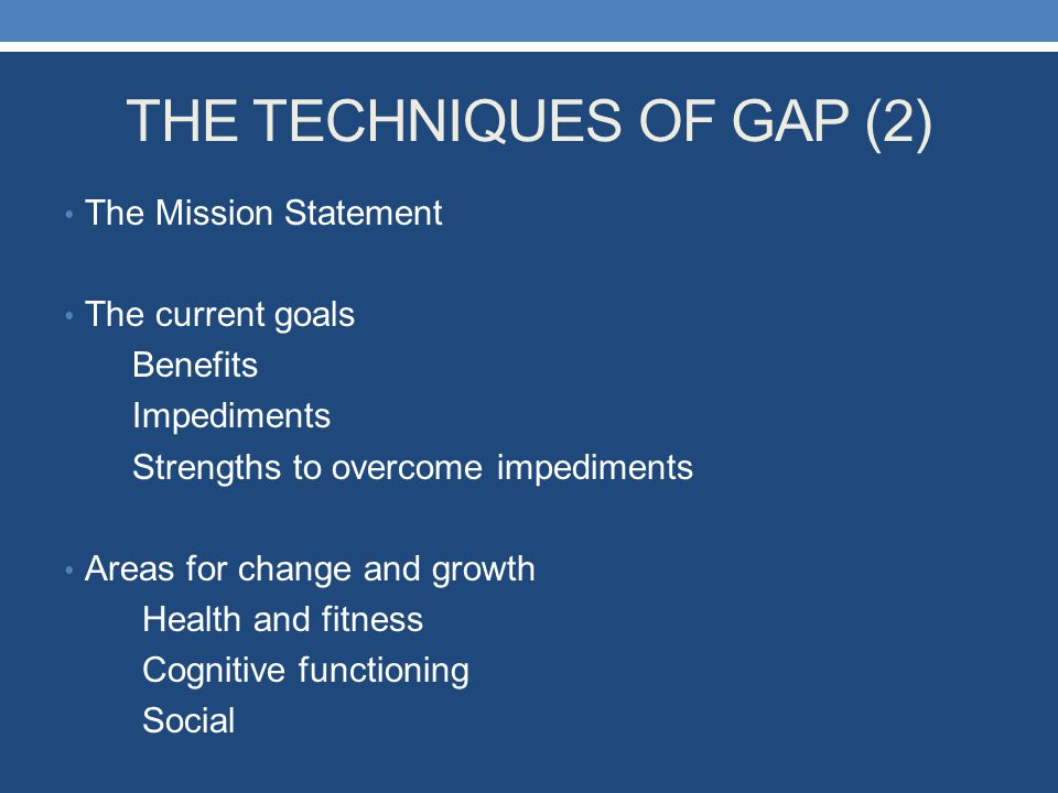 THE TECHNIQUES OF GAP (2)