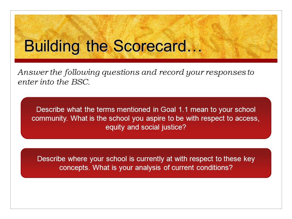 Building the Scorecard…