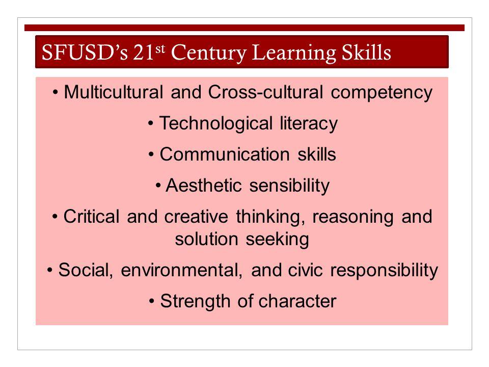 SFUSD's 21st Century Learning Skills