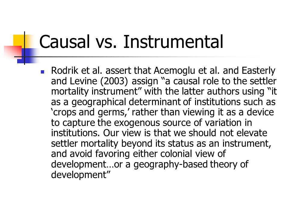 Causal vs. Instrumental