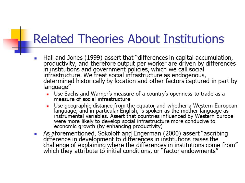 Related Theories About Institutions